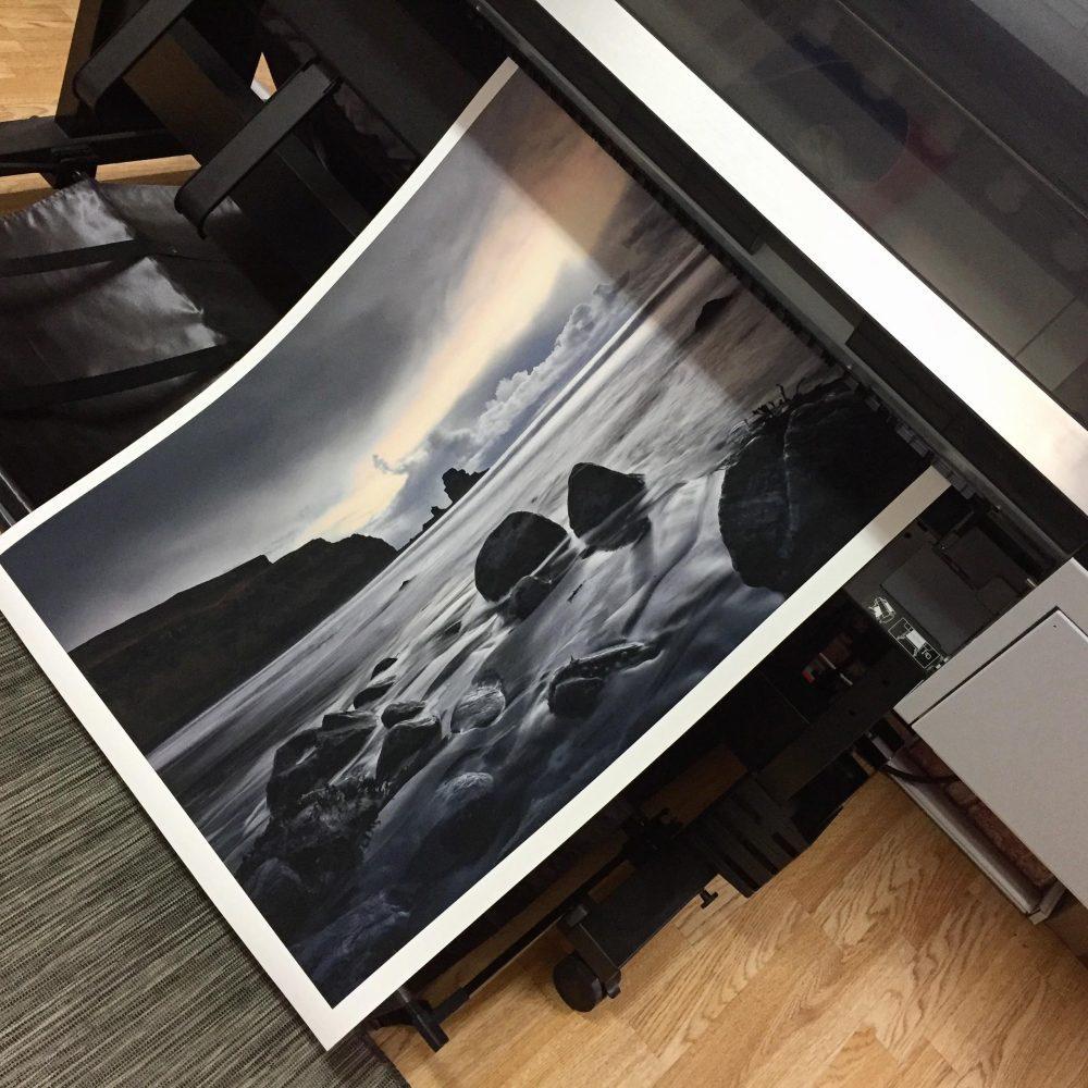 Siyah Beyaz Pigment Fotoğraf Baskı